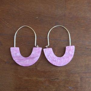 SUGARFIX by BaubleBar Glossy Resin Hoop Earrings